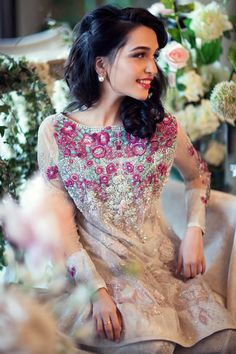 Farah Talib Aziz Spring Summer 2015 Collection Couture Pakistani Eid Pink