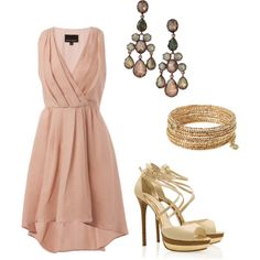 Sweet blush dress. Except with nude heels.