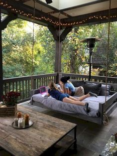Porch bed swing - Would love this! Eloisa Valdez eloisa_valdez Patio Porch bed swing - Would love this! Eloisa Valdez Porch bed swing - Would love this! eloisa_valdez Porch bed swing - Would love this! Patio Porch bed swing - Would love this! Future House, Farmhouse Front Porches, Screened In Porch Diy, Rustic Porches, Rustic Patio, Farmhouse Windows, Rustic Outdoor, Screened Porch Furniture, Southern Front Porches