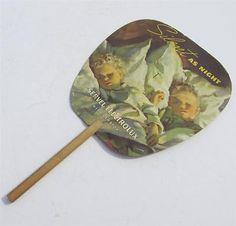 Old-Paper-Hand-Fan-Advertising-SERVEL-ELECTROLUX-REFRIGERATORS-DesMoines-Iowa-IA
