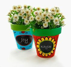 clay pot painted names