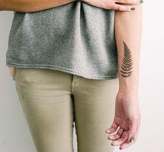 Fern Temporary Tattoo