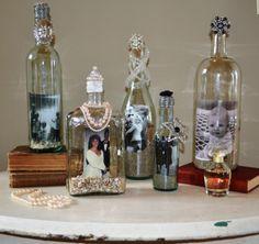 wine bottles craft | Recycled Wine Bottles, Mason Jars and Vases: Home Decor Crafts ...