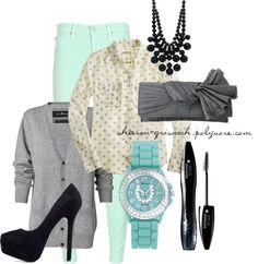 """""""Cool Mint Jeans"""" by sharon-grisnich on Polyvore"""