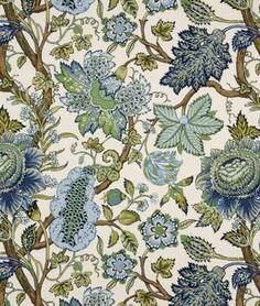 Robert Allen @ Home St Etienne Cotton Lapis Fabric - $18.55 | onlinefabricstore.net
