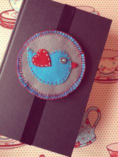 Felt bird bookmark