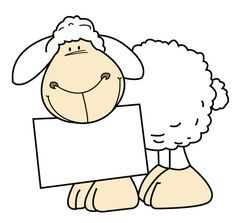 Sheep with sign clipart Eid Crafts, Sheep And Lamb, Happy Paintings, Digi Stamps, Watercolor Cards, Mail Art, Cute Cartoon, Farm Animals, Cute Drawings