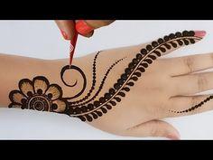 Pretty Henna Designs, Simple Arabic Mehndi Designs, Henna Tattoo Designs Simple, Back Hand Mehndi Designs, Mehndi Designs Book, Stylish Mehndi Designs, Mehndi Design Pictures, Mehndi Designs For Girls, Mehndi Designs For Beginners