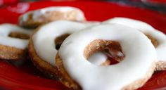 These apple-cinnamon dog donut cookies are shaped like donuts and have the consistency of a biscuit. They are simple to make, healthy, and dogs love them!