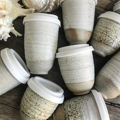 Beautiful reusable ceramic coffee cups that you can keep using forever. Saving t… Beautiful reusable ceramic coffee cups that you can keep using forever. Saving the planet one cup at a time. Get your Planet Cup today and stop the waste. Ceramic Pottery, Ceramic Art, Slab Pottery, Thrown Pottery, Ceramic Decor, Ceramic Bowls, Cerámica Ideas, Ceramic Coffee Cups, White Coffee Mugs