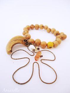 Pulsera Açacú flor, cristal y perlas
