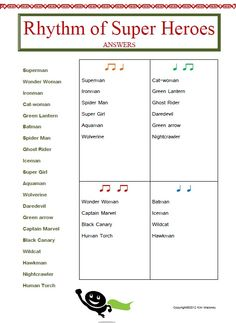 12 RHYTHM worksheets SET 2  This set of 12 RHYTHM worksheets actually contains 13 RHYTHM worksheets!!  Students are to match the name of the given words to the correct rhythm.  $