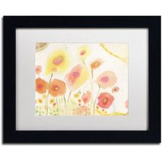 Trademark Fine Art Garden D'Oro Canvas Art by Sheila Golden, White Matte, Black Frame, Size: 11 x 14