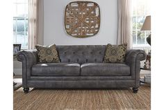 Make your sofa buying decision easier with this sofa design guide, which covers everything from the types of sofas available to fabrics & size options. Decor, Furniture, Room, Home Living Room, Home Furniture, Sofa, Couch And Loveseat, Ashley Furniture Homestore, Home Decor
