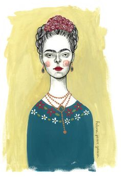 "frida kahlo drawings and artwork | Frida kahlo"" Drawing art prints and posters by Helena Perez Garcia ..."
