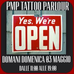 YES!!!!!! PMP Tattoo Parlour domani APERTO!!! Dalle 11:00 alle 19:00 saremo in studio!!! Vi Aspettiamo per info e appuntamenti info@pmptattoo.com #tattoo #tattoos #ink #inklife #tattedup #tattoonow #tattooboys #tattoolove
