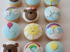 happy day cup cakes #SiliconeBakingCake #Mold #Muffin