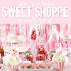 Stunning sweet shop birthday party