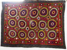 Berbere World Imports - 107-064---Vintage Turkish Suzani, $750.00 (http://www.berbereworldimports.com/products/107-064-vintage-turkish-suzani.html/)