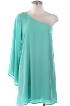 WINNERS CIRCLE Jade Green One Shoulder Dress Shop Simply Me Boutique – Simply Me Boutique