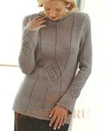 . Вязаный пуловер для женщин - Вязание - Страна Мам