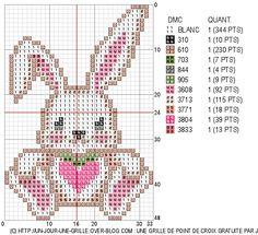 bunny heart cross stitch