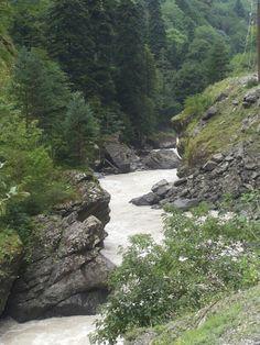 The river Enguri. Georgian, River, Mountains, Nature, Outdoor, Outdoors, Naturaleza, Georgian Language, Nature Illustration
