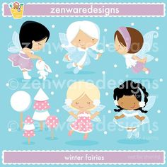 Winter Fairies Clipart