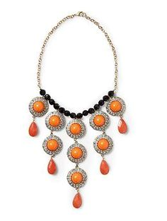 Pim + Larkin Cabochon Bib Necklace | Piperlime - $25.97 (lovely with the black skirt & orange shoes)