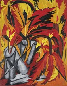 Natalia Goncharova, Flowers (1916) on ArtStack #natalia-goncharova-natal-ia-sierghieievna-goncharova #art