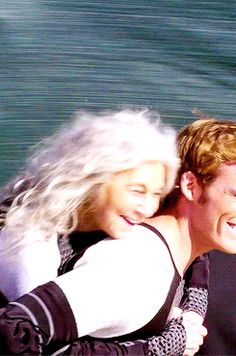 Granny: win this race sonny! Guy: I'm trying to! You are so heavy! Me: WOW and all of that topped up with smiling.