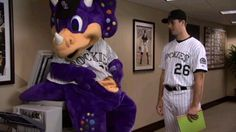 """Dinger's Other Job"" (2009): This is what Dinger does when he's not at games, parties or community events."