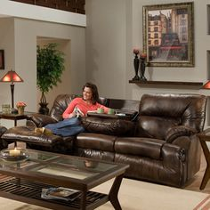 Tristin Dual Reclining Sofa | Overstock.com Shopping - Great Deals on Sofas & Loveseats