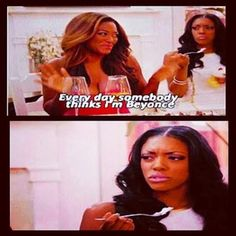 I say I hate reality TV with the exception of this show. The Real Housewives of Atlanta is the sassiest thing I've ever seen. These women are crazy and hilarious. It's bitchy as hell but gone with the wind fabulous *twirl* Bravo Housewives, Housewives Of Atlanta, Real Housewives, Bravo Tv, Me Tv, Comedy Central, Best Series, Hilarious, Funny