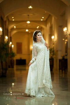 Asian Engagement Dresses Designs Latest Bridal Wear Collection consists of new styles of embroidered fancy women bridal suits, gowns, frocks, Desi Bride, Desi Wedding, Wedding Ideas, Wedding Wishes, Wedding Inspiration, Pakistani Wedding Outfits, Pakistani Dresses, Pakistani Couture, Modest White Dress