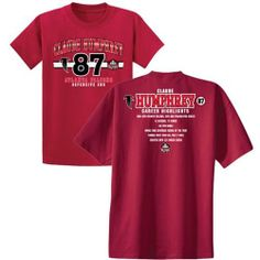 Claude Humphrey @Beverly Murray Falcons Pro Football Hall of Fame Class of 2014 Stat T-Shirt. Click to order! - $24.99 #Falcons