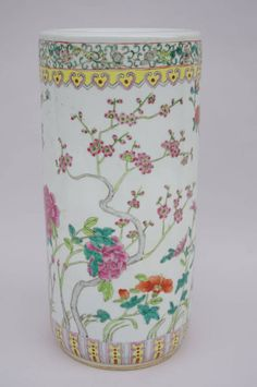 chinese porcelain figures 1950 | Chinese porcelain umbrella stand from 1950 For Sale at 1stdibs