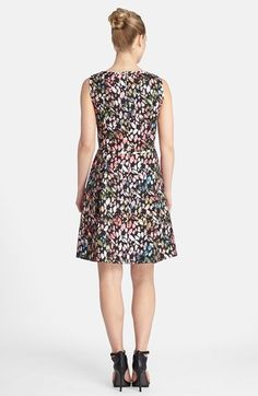 Tahari Floral Print Sleeveless Fit & Flare Dress (Regular & Petite)   Nordstrom