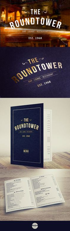 Pub Branding & Menu Design on Behance -  very simple with use of vector icons for quick readability.