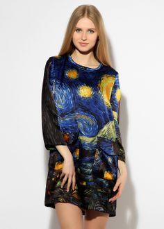 Givenchy 75325 Vincent van Gogh Starry night dress