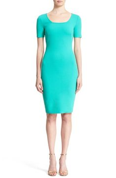 St. John Collection Luxe Sculpture Knit Sheath Dress available at #Nordstrom