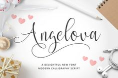 angelova script is a new modern calligraphy typeface fonts c. contemporary typeface, classic, beauty and elegant touch. Typeface Font, Cursive Fonts, Handwritten Fonts, Calligraphy Fonts, All Fonts, Modern Calligraphy, Funky Fonts, Script Lettering, Calligraphy Art