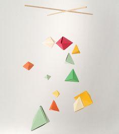 diy geometric origami baby mobile