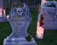 Building and Painting Tombstones: Tutorial - Blogs - Halloween Forum