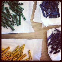 3rd Grade Thoughts: Monday Made It: Dyed Clothes Pins