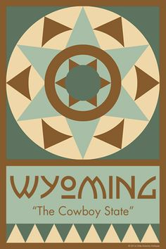 WYOMING quilt block. Ready to sew. Single 4x6 block $4.95.