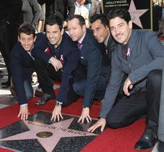 The New Kids on the Block — Joey McIntyre, Jonathan Knight, Jordan Knight, Donnie Wahlberg, and Danny Wood — got their star on the Hollywood Walk of Fame on Thursday.