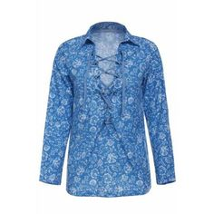 Stylish Turn-Down Collar Long Sleeve Hollow Out Printed Women's Blouse