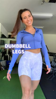 Total Legs - One Dumbbell Workout Fitness Workouts, Gym Workout Videos, Fitness Workout For Women, Body Fitness, Physical Fitness, One Dumbbell Workout, Butt Workout, Workout Bauch, Fitness Inspiration