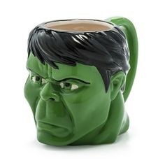 Incredible Hulk 16 oz Marvel Molded Face Green Dolomite Coffee Mug Cup NEW i Green Coffee Mugs, Funny Coffee Mugs, Coffee Love, Coffee Cups, Tea Cups, Disney Cups, Hulk Marvel, Avengers, Cool Inventions